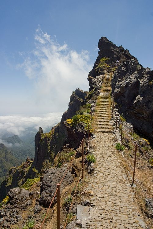 Walking to the sky ,Pico do Areeiro, Madeira island, Portugal
