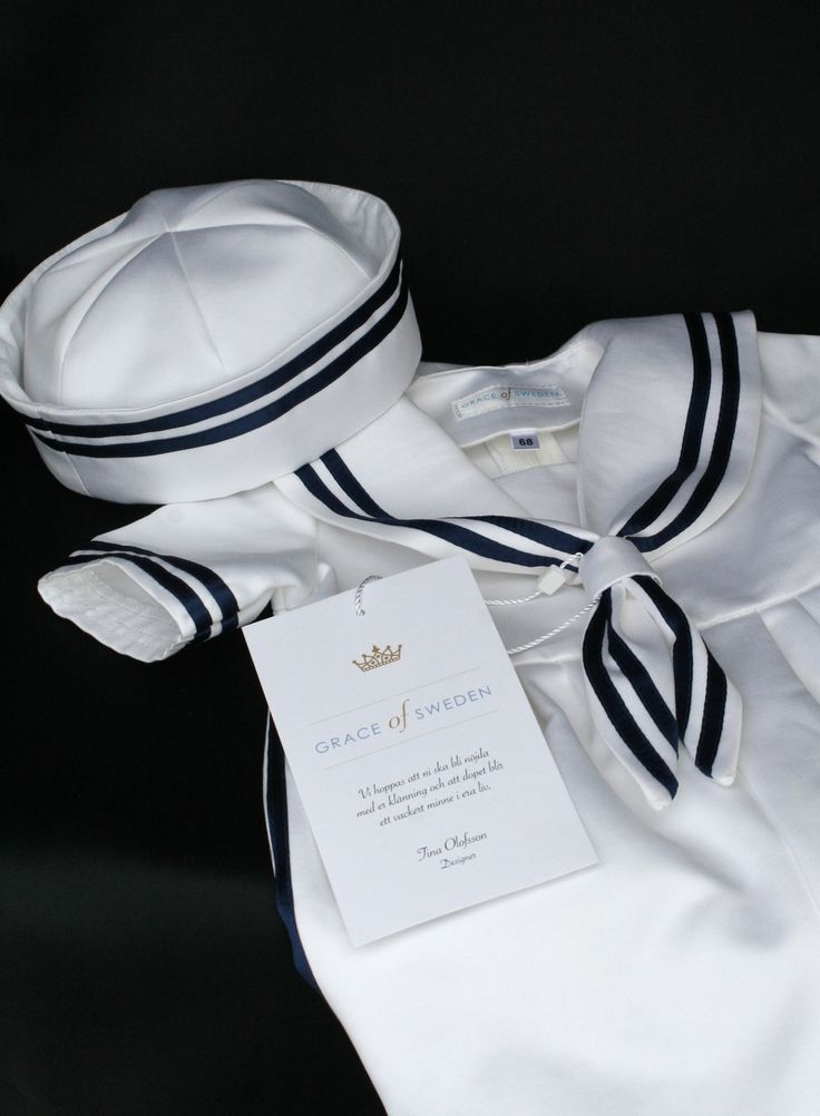 dopkläder i sjömansstil, christening clothes in sailor style, dåpsklear