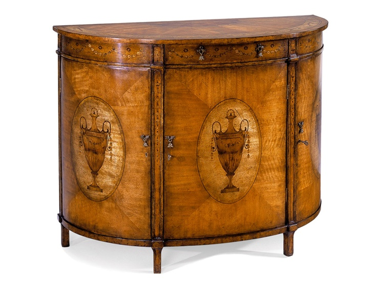 Shop For Jonathan Charles Adam Style Demilune Cabinet, And Other Living  Room Cabinets At Englishmanu0027s Interiors In Dallas, TX.