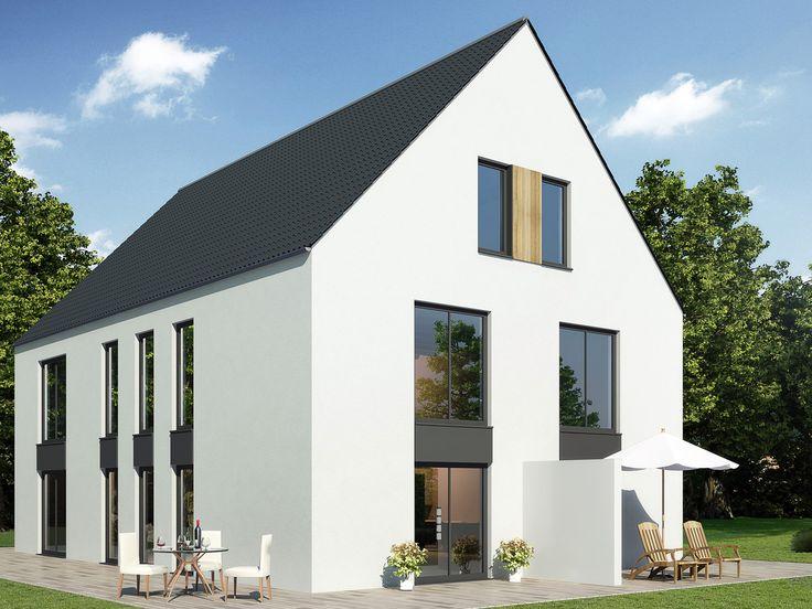 27 besten doppelhaus bilder auf pinterest flachdach for Doppelhaus moderne architektur