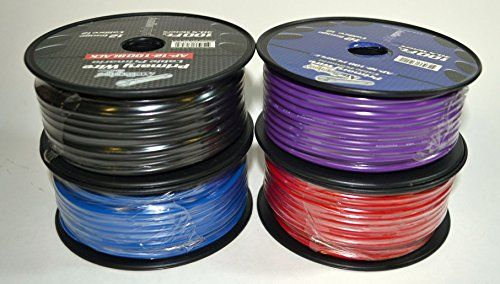 2 Spools Audiopipe 100' Feet 12 GA Gauge AWG Primary Remote Wire Auto Power Cable. If no message is received, we will randomly select colors for you. High Quality Commercial Grade For Home Audio, Automotive, or any 12 Volt Application Flexible Stranded Copper Clad Aluminum (2) Spools of 12 Gauge 100' Wire 200' Wire Total Colors Available: White, Red, pURPLE, Black & Blue Pick from (2) colors, for example: (1 Black, 1 Blue), (2 Purple), (1 Red, 1 White) or any other variation you...