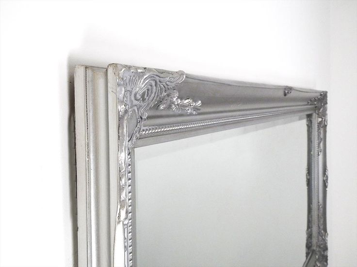 Large Full Length Classic Ornate Styled Silver Mirror 5Ft7 X 2Ft7 (170cm X 79cm)