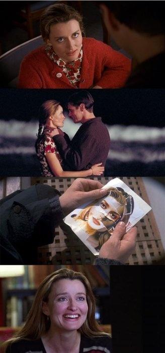 Truman Burbank & Lauren Garland (Sylvia) | The Truman Show (1998)    #jimcarrey #nataschamcelhone #couples
