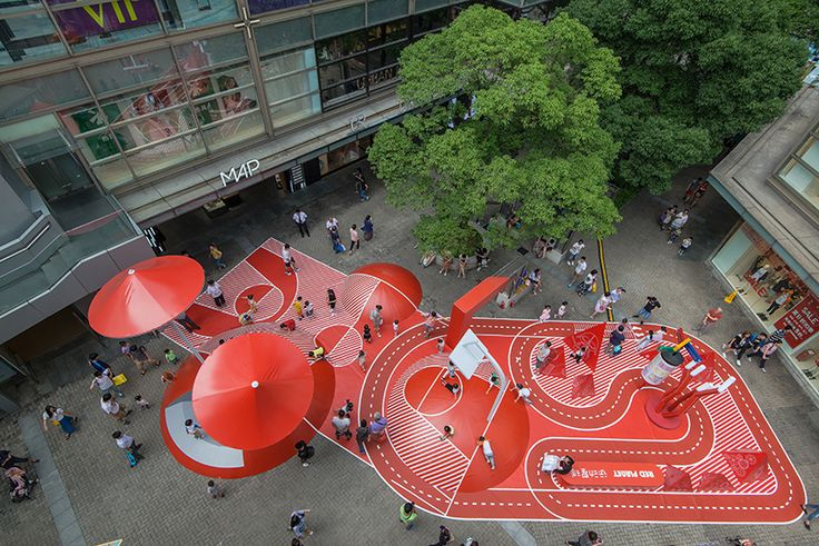red planet, an unconventional playground by 100architects in shanghai