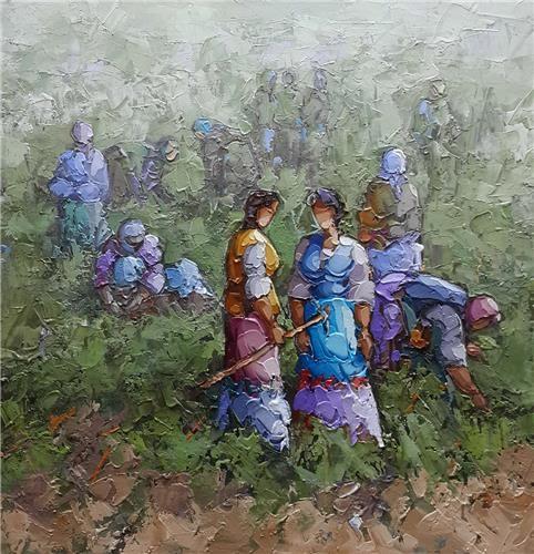 Saim Dursun - oil on canvas