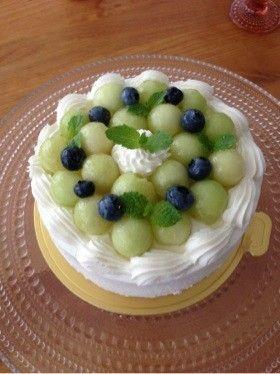 【メロンショートケーキ】メロンとしっとりスポンジとあっさりクリームのハーモニー。