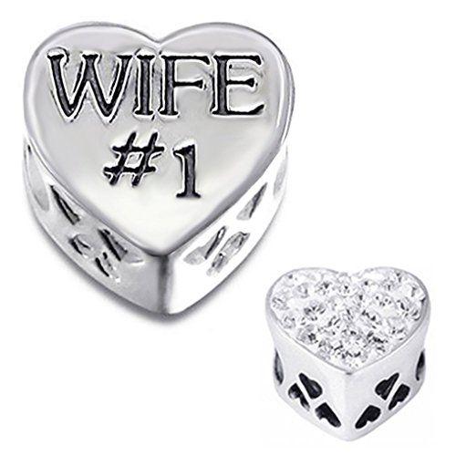 41% Off was $44.00, now is $25.99! I LOVE MY WIFE Charm Bead 925 Sterling Silver Fits Pandora Troll Biagi Chamilia Charm Bead Bracelets