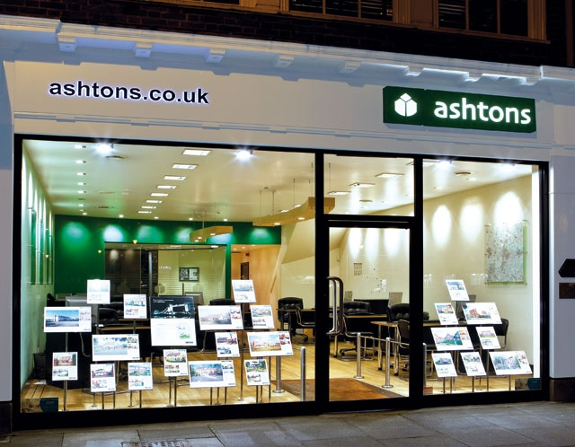 Office signage design for Ashtons Estate Agents - Frontmedia Print and Graphic Design