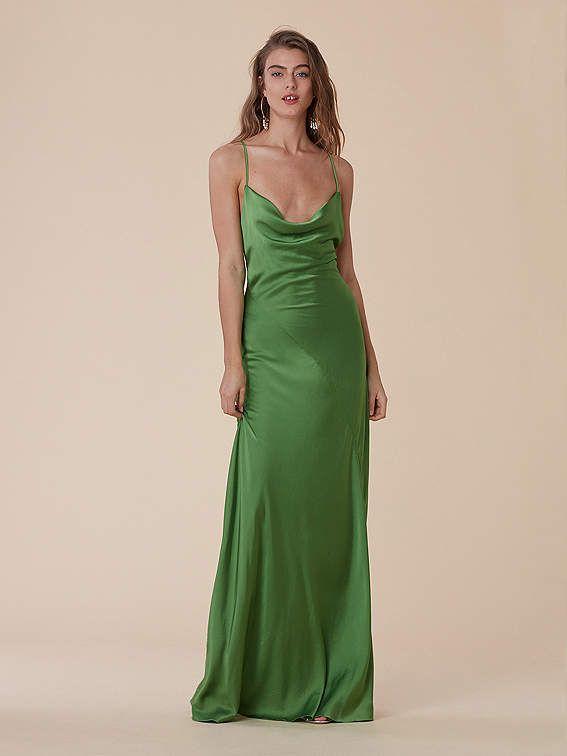 cb24eb803fc1 Cowl Neck Bias Gown summer spring St Patricks day #shopstyle Deb Dresses,  Satin Dresses