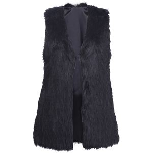 Brief Black Faux Fur Gilet | pariscoming