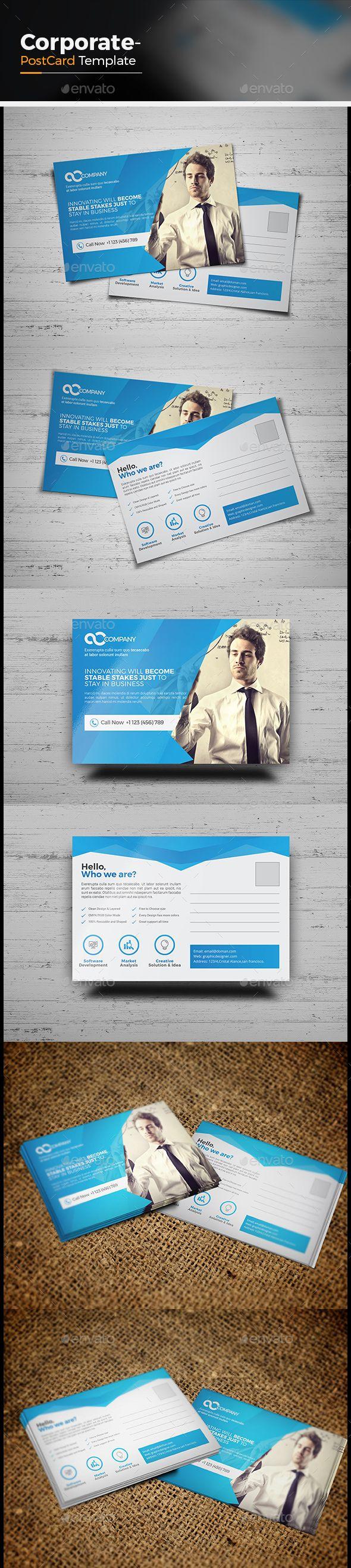 Corporate Postcard Template 132 best Corporate Postcard