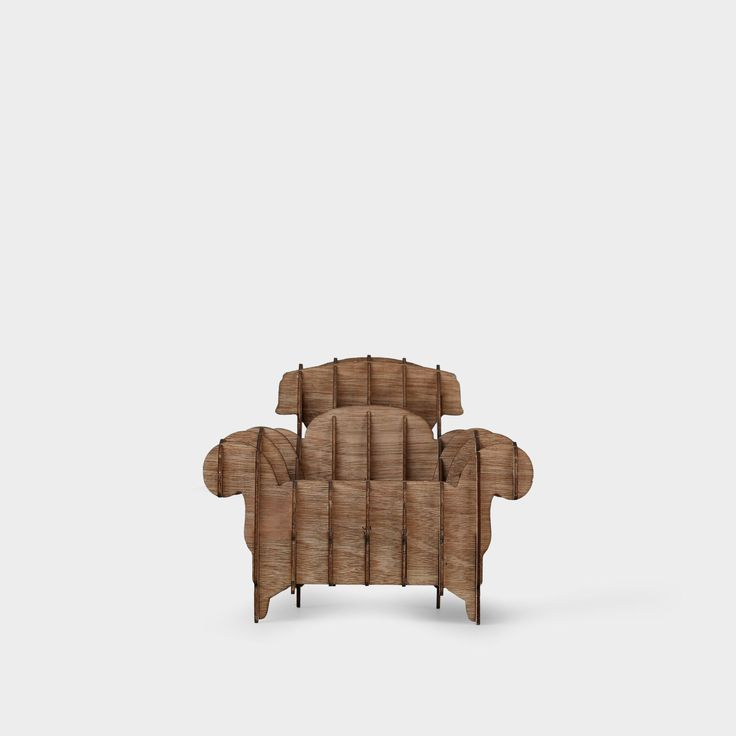 This is cute, but i don't know whether it's comfortable or not....Bobobobo: Wooden Sofa # 1, Kite Design Studio