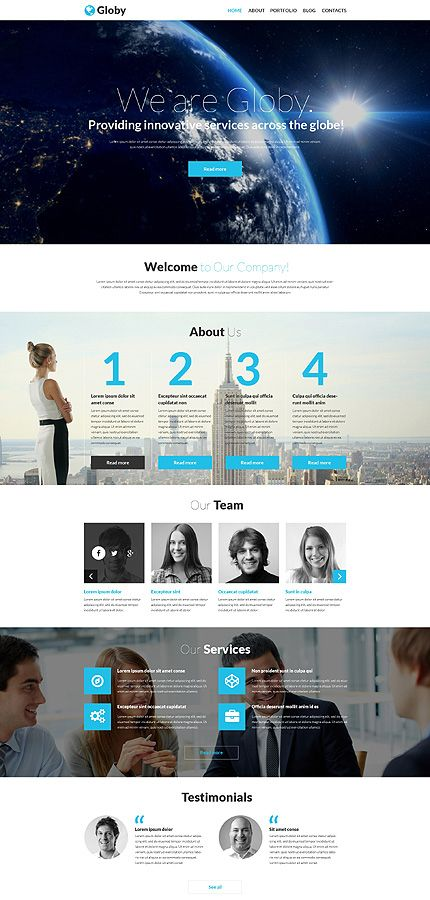 #ResponsiveDesign #WordPress Global Services Business theme. $75. Comes with documentation to make your website look exactly like the demo here -->> http://bit.ly/trobaz-51253. Then with no programming skills, you can maintain your own website without paying all those extravagant fees! In fact, the same thing applies to ANY of our website templates. http://trobaz.com/designs