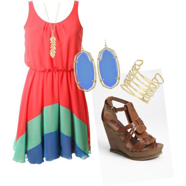 cute color block dress for summer nights
