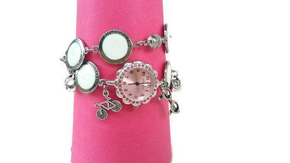 Womens Charm Bracelet Watch  Bracelet with by HarmonyHourWatches