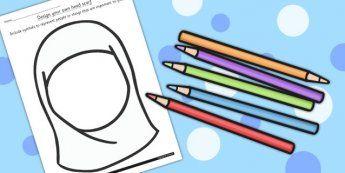 Design Your Own Head Scarf Template - Eid, Head, Scarf