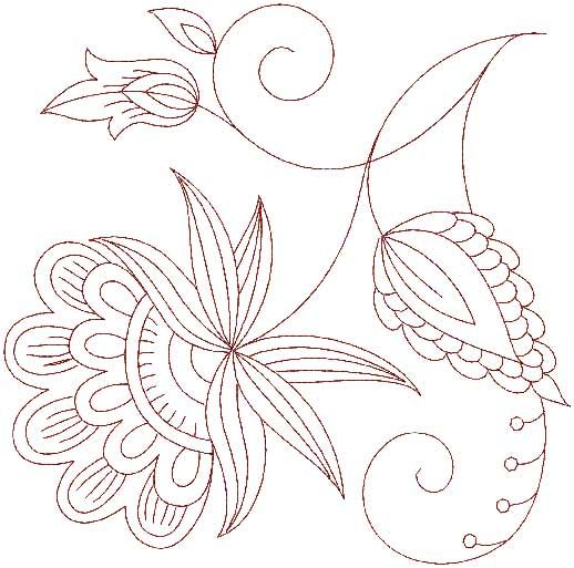 Jacobean Embroidery | JACOBEAN MACHINE EMBROIDERY DESIGNS « EMBROIDERY & ORIGAMI