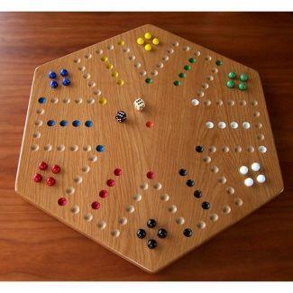 Solid Oak Hardwood Aggravation Board Game