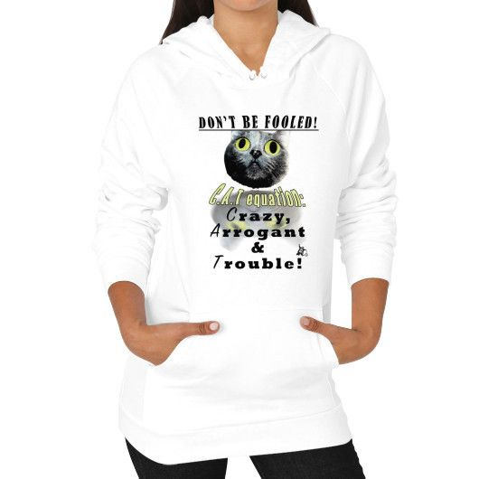 Cat Equation Hoodie (on woman)
