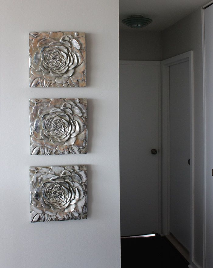 Flower Art: Z Gallerie Gray Walls: Benjamin Moore Shoreline
