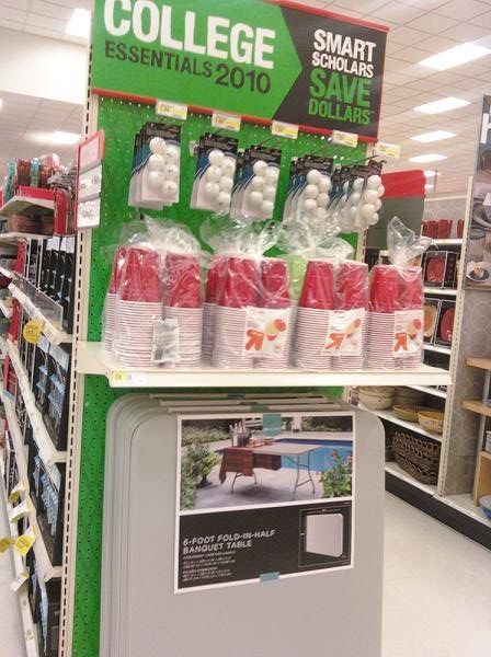Target does its part to prepare the next generation of scholars…for beer pong....