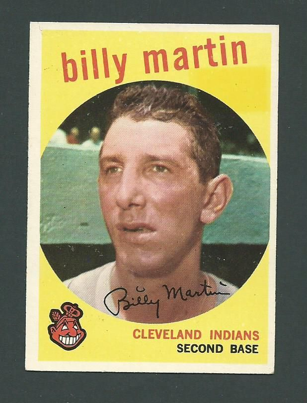 Billy Martin Cleveland Indians 1959 Topps Card #295 #ClevelandIndians