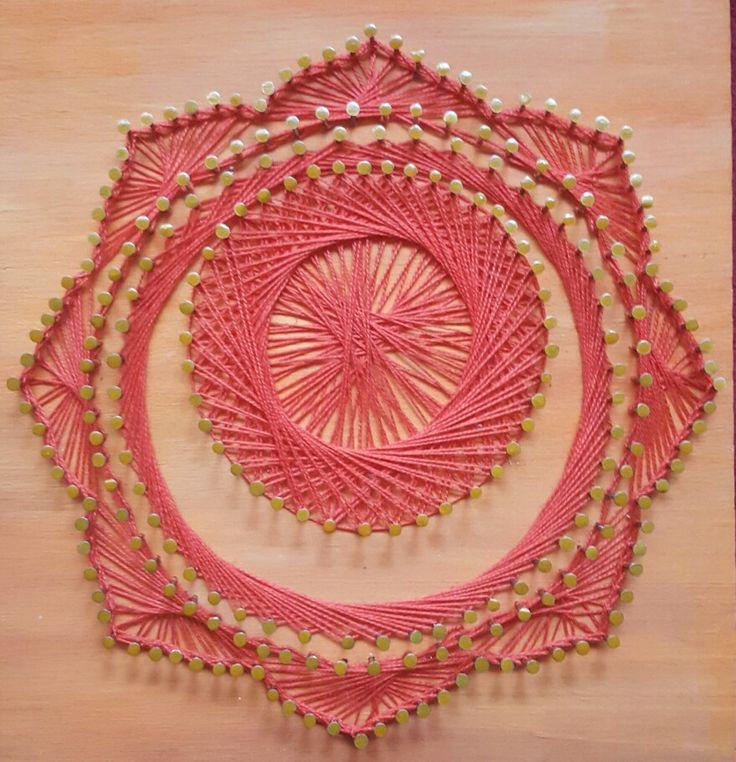 #stringart #hilorama #stringarts #clavos #nails #hilo #arteencuerda #conhilo #CONHILO #colors #colores #naranja #chakra #Svadhisthana