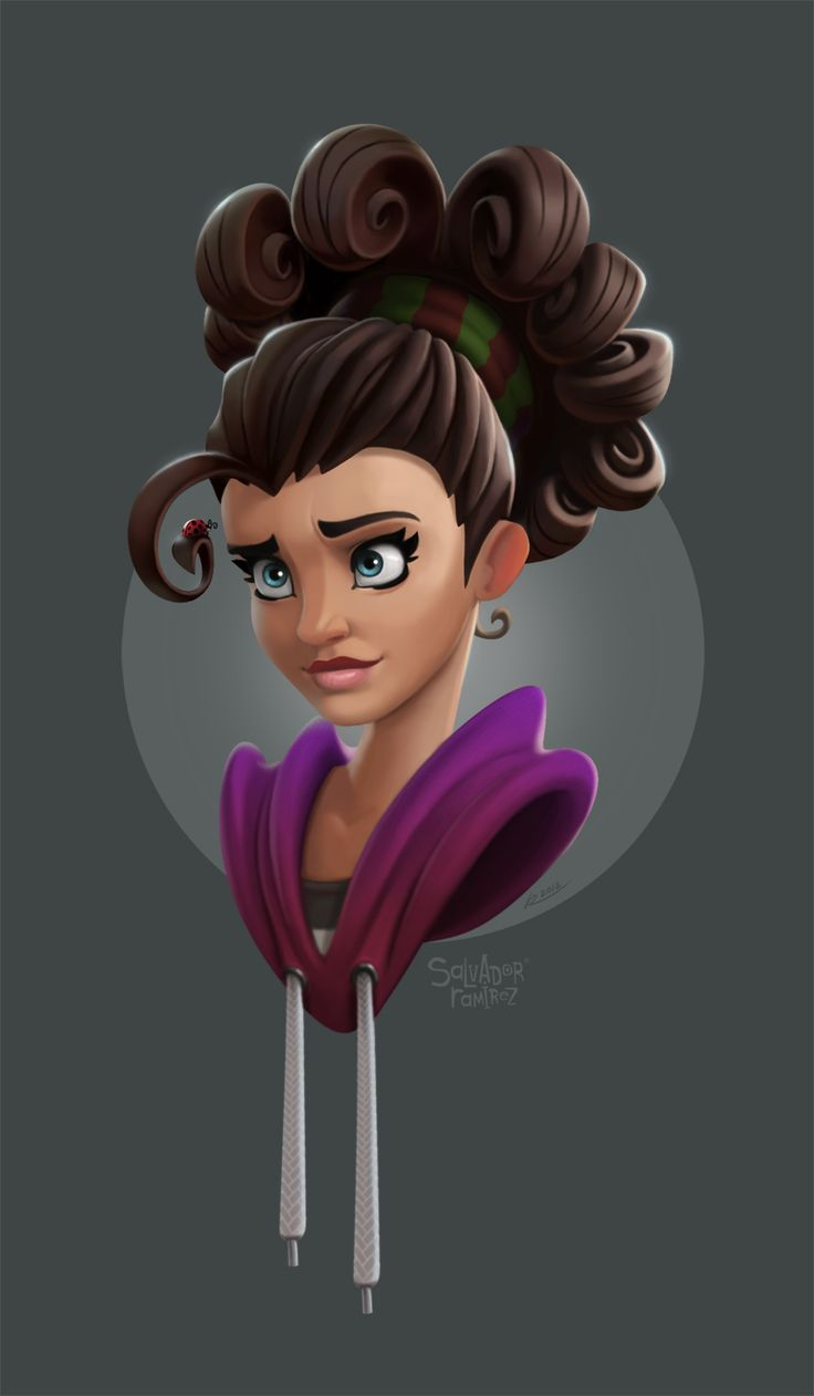 Cartoon Characters With Curly Hair : Curly female character