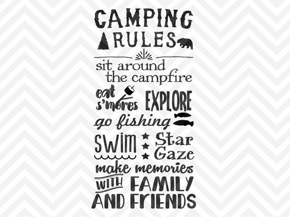 Image Result For Free Camping Svg Files For Cricut Camping Rules Cricut Svg Files For Cricut