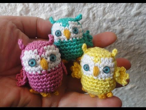 Маленькая сова  Little Owl Crochet - YouTube