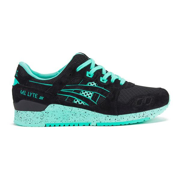 Asics Women's Gel-Lyte III 'Bright Pack' Trainers - Black (845 DKK) ❤ liked on Polyvore featuring shoes, sneakers, black, bright sneakers, asics sneakers, black trainers, asics footwear and asics shoes