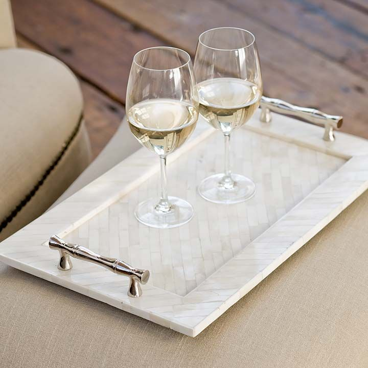 Bone Tray with Bamboo Handles — Bellissimo!