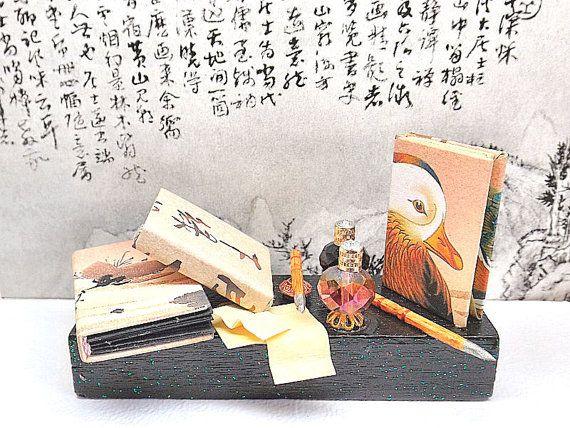 Miniatura decorativa Anatra Mandarina scena in di PiccoliSpazi