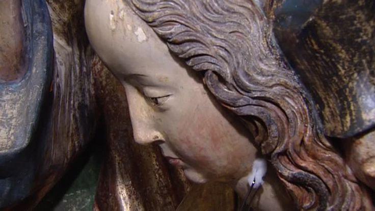 Konserwacja ołtarza Wita Stwosza - elementy zwieńczenia są oryginalne