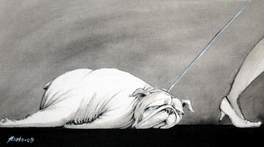 Lat hund av Lisa Aisato
