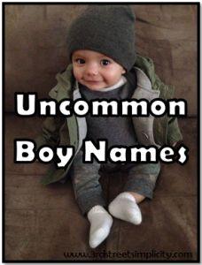 Uncommon Boy Names
