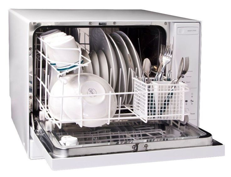 Haier 4 Place Setting Table Top Dishwasher Portable Apartments Singles couples #Haier