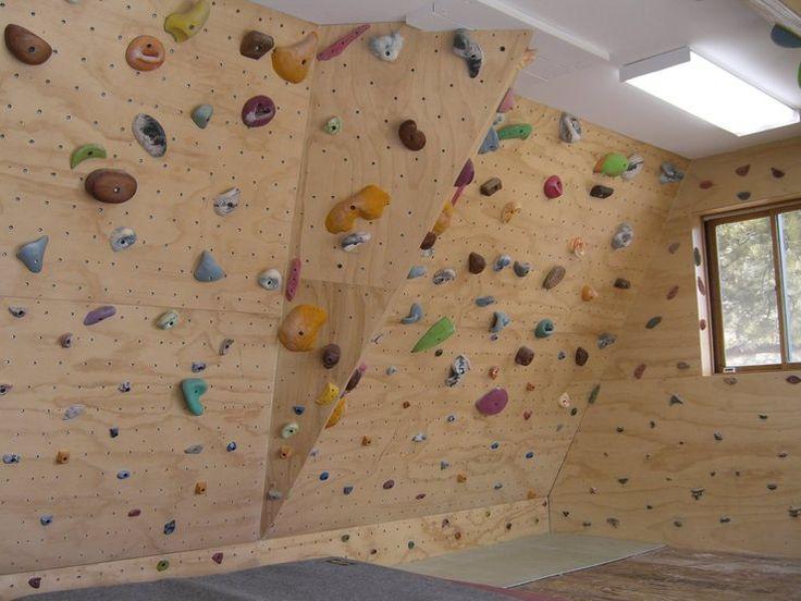 Beautiful Basement Rock Climbing Wall