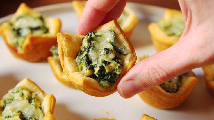 Spinach Artichoke Cups Are The Most Fun Way To Eat Your Favorite Dip - Delish.com