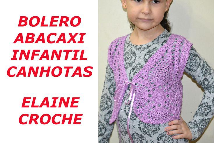 CROCHE PARA CANHOTOS - LEFT HANDED CROCHET - BOLERO ABACAXI INFANTIL EM CROCHÊ CANHOTAS