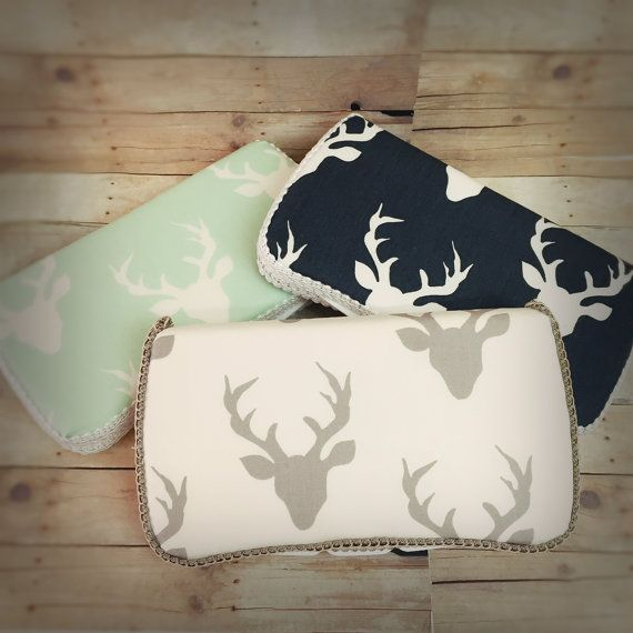 deer antler diaper pocuh deer baby wipes case Travel Wipes Case Why buy the white and boring plastic wipes box?  Ajo.Bebe brings you such a sophisticated and chic wipes case that nobody will notice it really is a travel case. You will love how this compact and cool case coordinates with all the travel accessories. Makes a great gift set with its matching diaper Clutch, or the Nursery wipes case, listed on our shop. NOT INCLUDED Celebrity Moms such as Tori Spelling picked our nursery and…