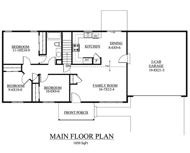 House Plan 5631 00026 Country Plan 1 050 Square Feet 3