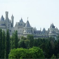 Used for location shooting for the hit TV series  Merlin, Château de Pierrefonds, north of Paris in France has a suitably bizarre story all of its own.