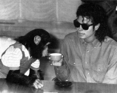 Invited. ( Michael Jackson and Bubbles )