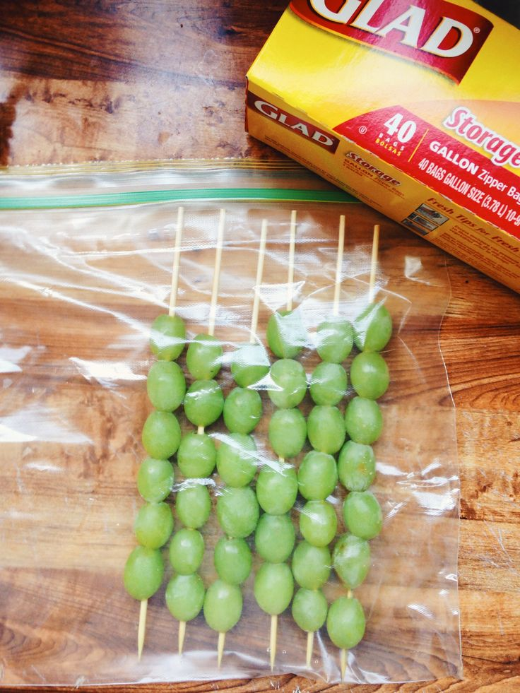 Frozen grape pops are an easy, fresh snack for the kids, especially in the summer heat or afternoon soccer games.