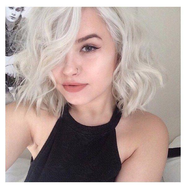 blonde, grunge, icons, nose ring, short hair, site model, claudia sroka