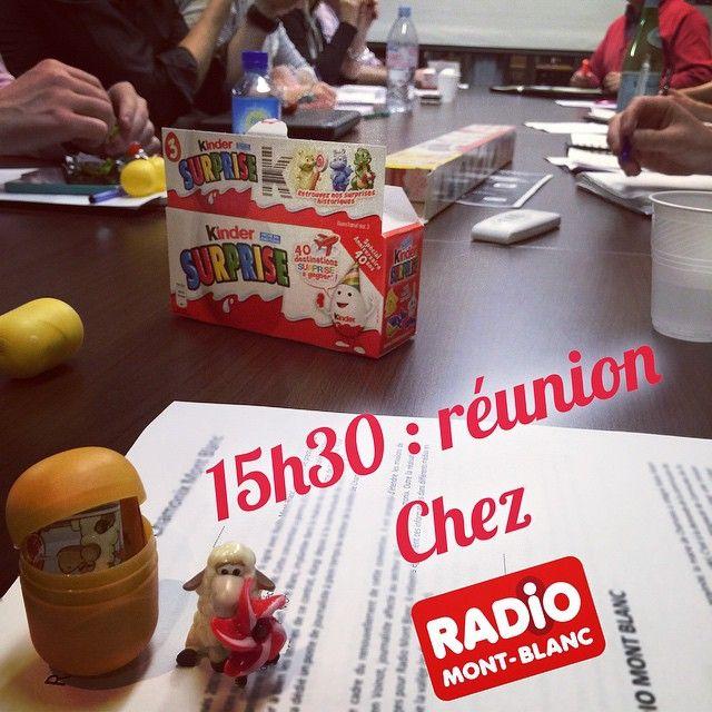 Réunion chez Radio Mont Blanc #backstage #montblancmorning #radiomontblanc