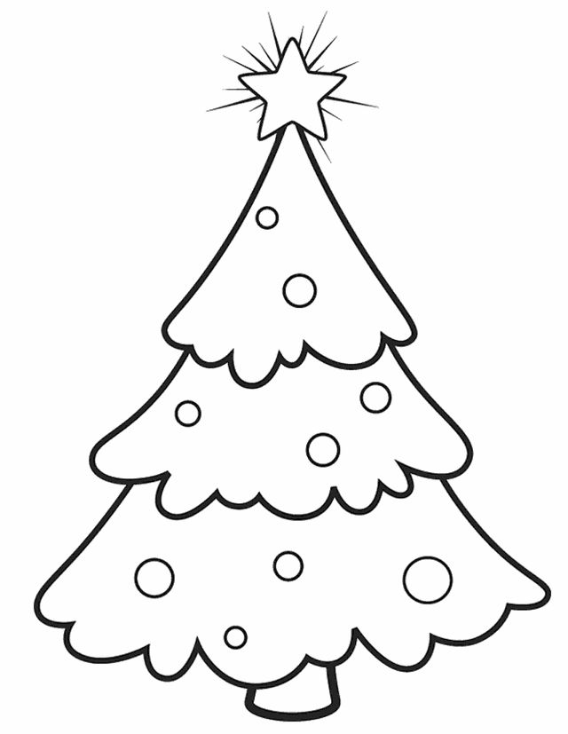 Christmas Coloring Pages Toddlers Tree For Kids