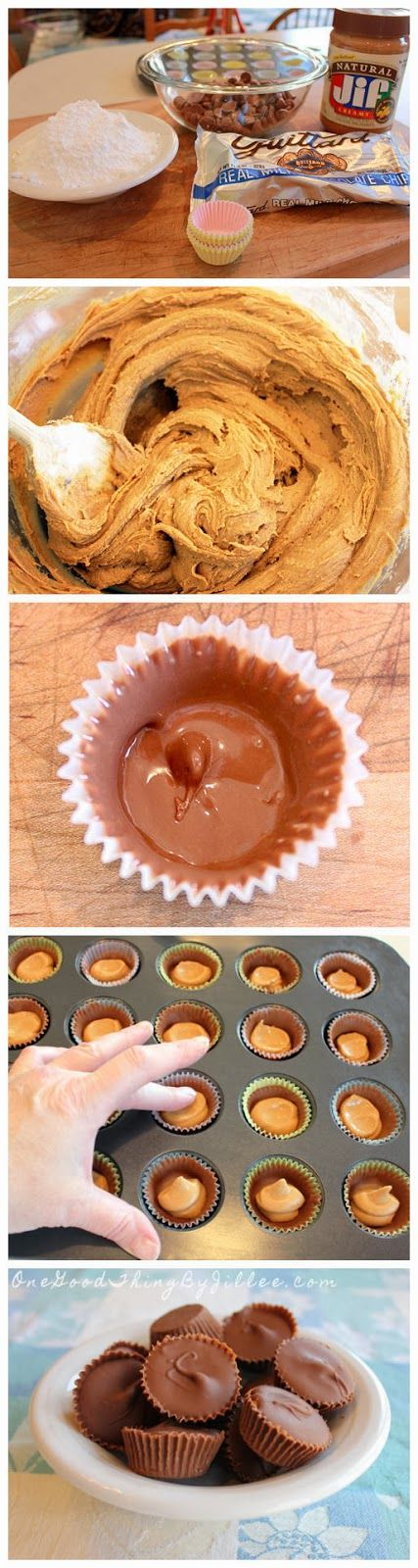 "Homemade ""Reese's"" Peanut Butter Cups..Oh so bad but oh so good!"