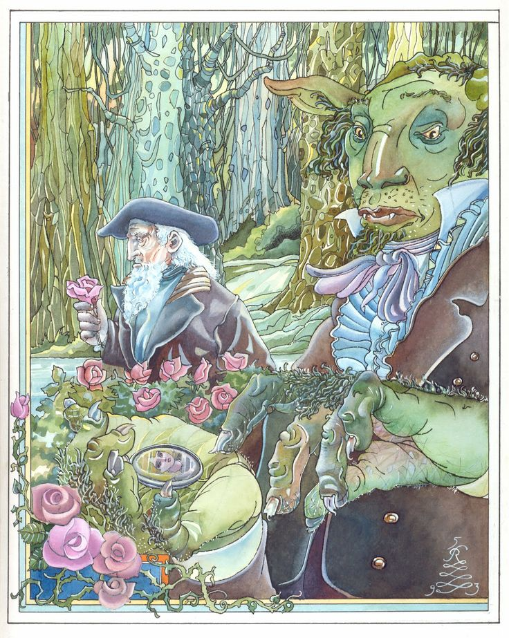"""Rui de Oliveira illustration for """"Beauty and the Beast""""."""